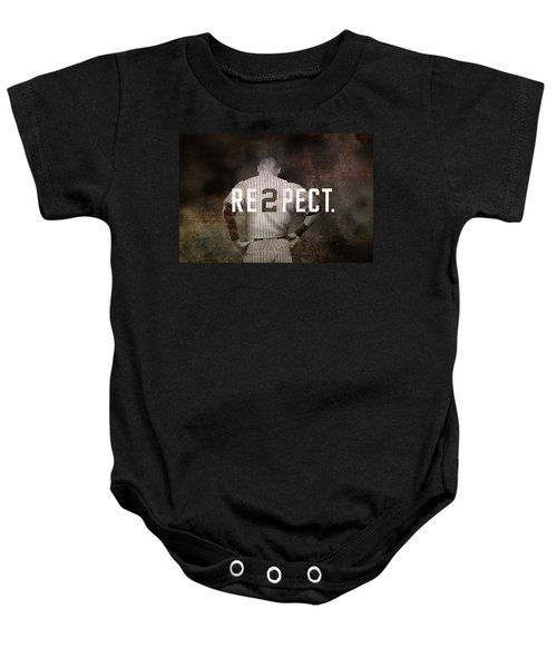 Baseball - Derek Jeter Baby Onesie by Joann Vitali