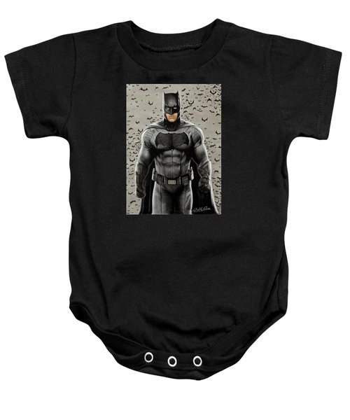 Batman Ben Affleck Baby Onesie by David Dias