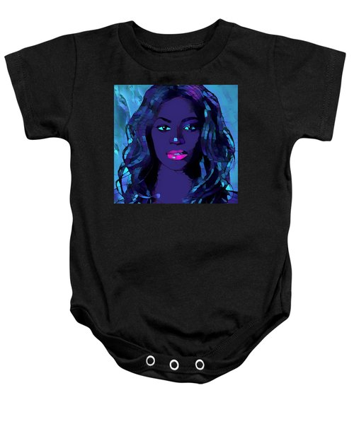 Beyonce Graphic Abstract Baby Onesie by Dan Sproul