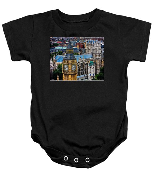 Big Ben And Westminster Abbey Baby Onesie by Chris Lord
