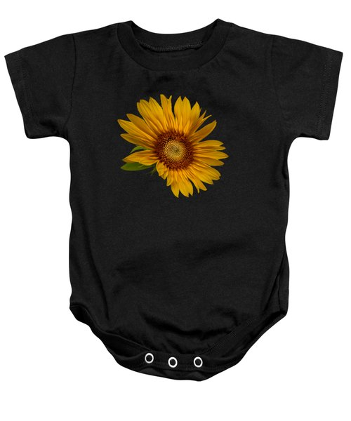 Big Sunflower Baby Onesie by Debra and Dave Vanderlaan