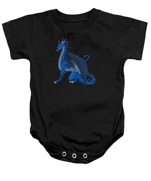 Blue Dragon Baby Onesie by Gaynore Craps