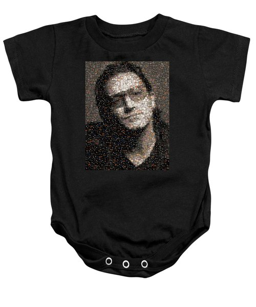 Bono U2 Albums Mosaic Baby Onesie by Paul Van Scott