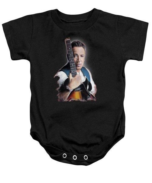Bruce Springsteen Baby Onesie by Melanie D
