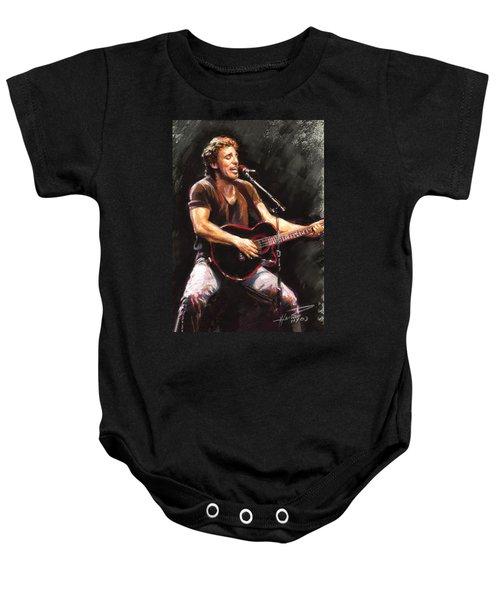 Bruce Springsteen  Baby Onesie by Ylli Haruni