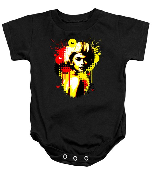 Butterfly Headcase Baby Onesie by Chris Andruskiewicz
