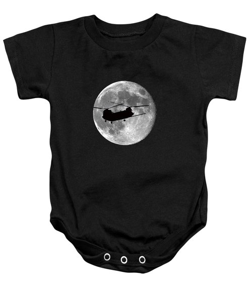 Chinook Moon .png Baby Onesie by Al Powell Photography USA