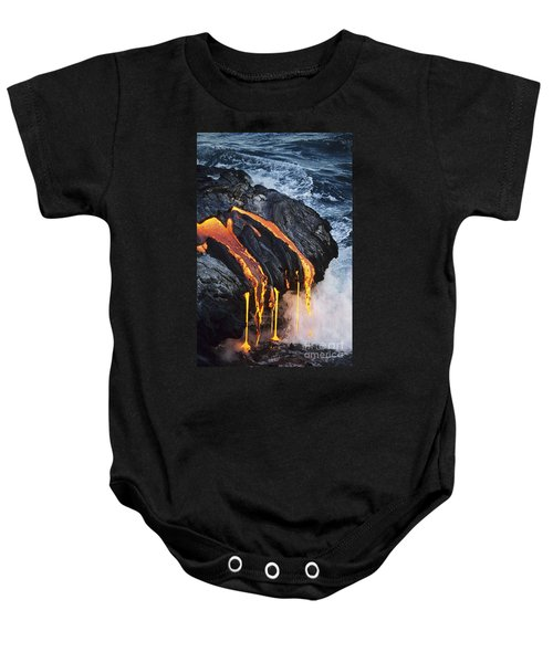 Close-up Lava Baby Onesie by Don King - Printscapes