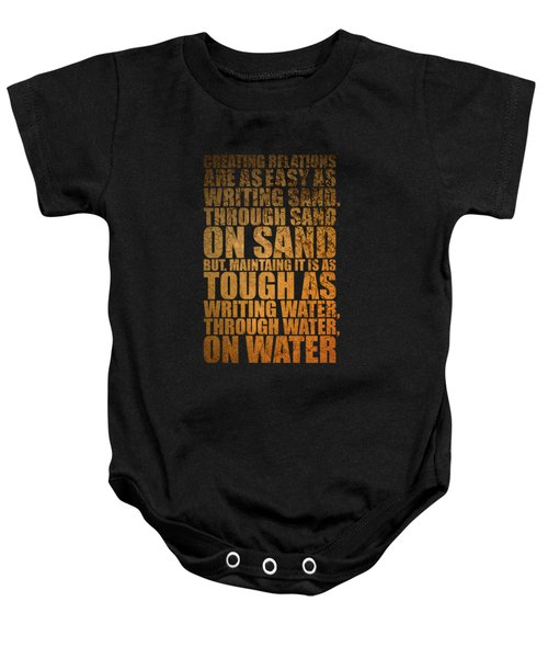 Creating Relations Baby Onesie by Maria Christi