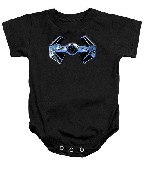 Darth Vaders Tie Figher Advanced X1 Tee Baby Onesie by Edward Fielding