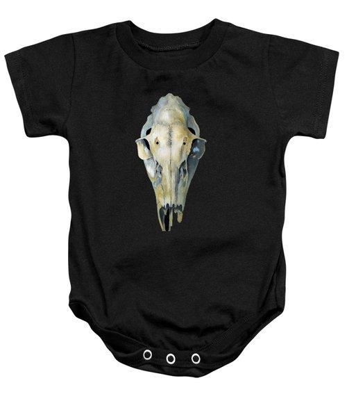 Deer Skull Aura Baby Onesie by Catherine Twomey
