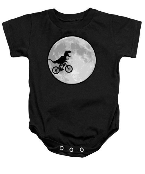 Dinosaur Bike And Moon Baby Onesie by Bubb Snugg