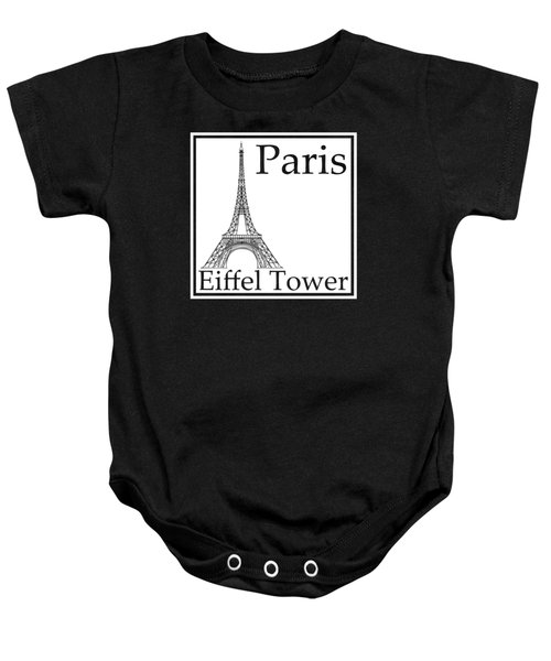 Eiffel Tower In White Baby Onesie by Custom Home Fashions