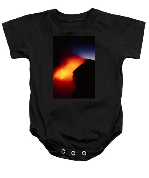 Explosion At Twilight Baby Onesie by William Waterfall - Printscapes