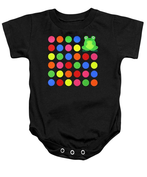 Discofrog Remix Baby Onesie by Oliver Johnston