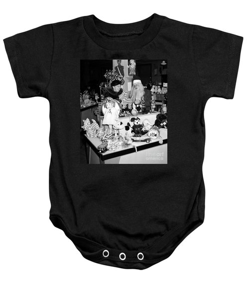 First Lady Eleanor Roosevelt And Santa Baby Onesie by Science Source