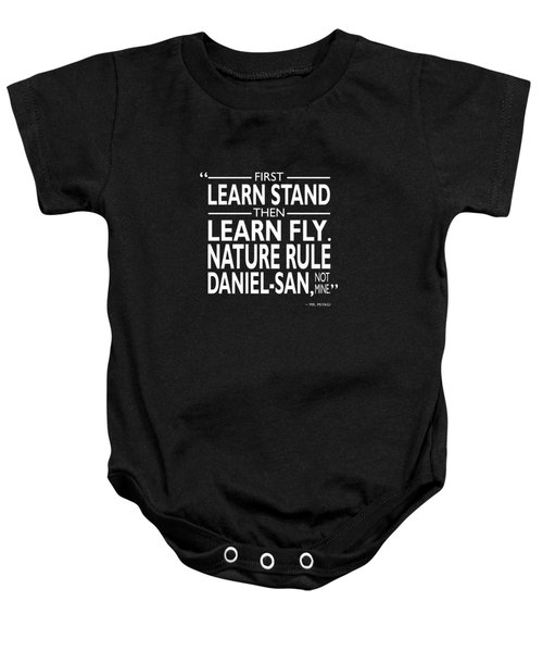 First Learn Stand Baby Onesie by Mark Rogan