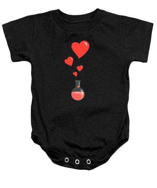 Flask Of Hearts Baby Onesie by Boriana Giormova