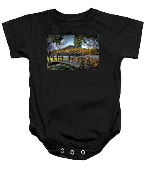Foot Bridge Baby Onesie by Todd Hostetter