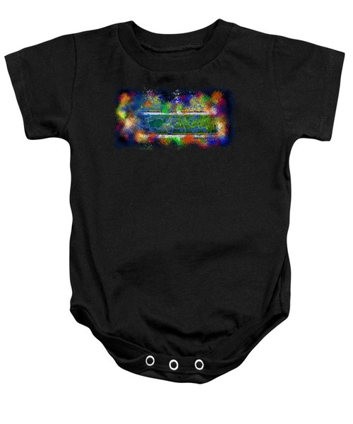 Forgive Brick Tshirt Baby Onesie by Tamara Kulish