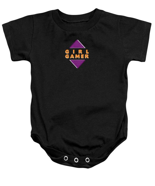 Girl Gamer Baby Onesie by Linda Woods