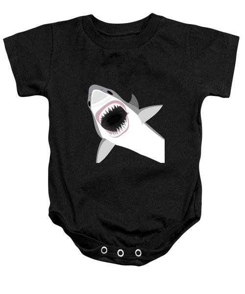 Great White Shark Baby Onesie by Antique Images