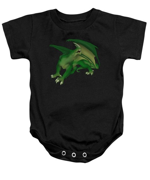 Green Dragon Baby Onesie by Gaynore Craps