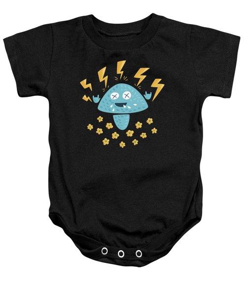 Heavy Metal Mushroom Baby Onesie by Boriana Giormova