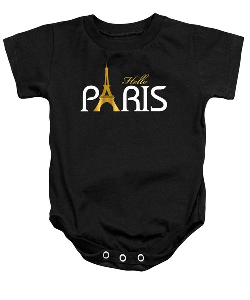 Hello Paris Baby Onesie by Carlos Simon