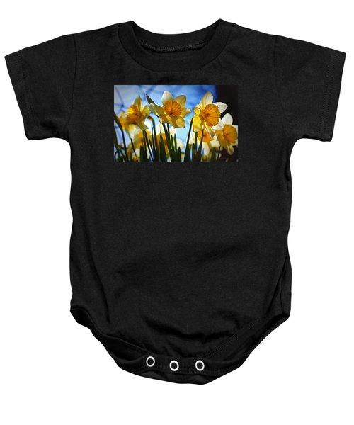 Hello Spring Baby Onesie by Cricket Hackmann
