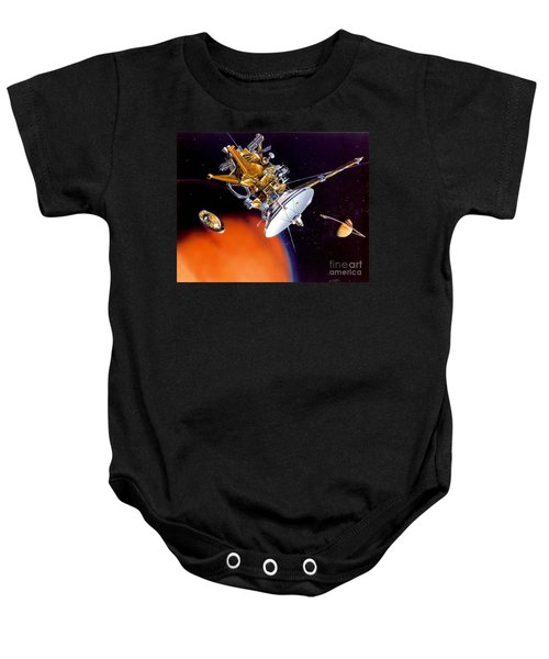 Huygens Probe Separating Baby Onesie by NASA and Photo Researchers
