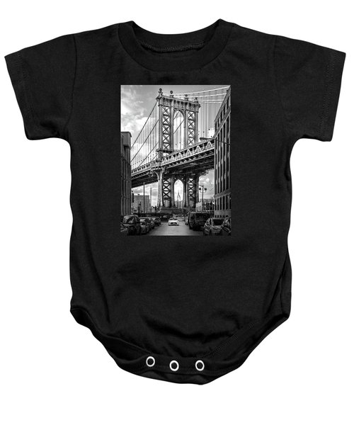 Iconic Manhattan Bw Baby Onesie by Az Jackson