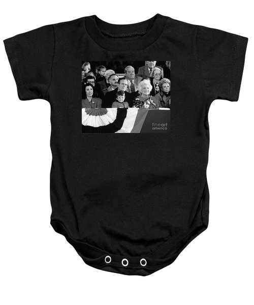 Inauguration Of George Bush Sr Baby Onesie by H. Armstrong Roberts/ClassicStock