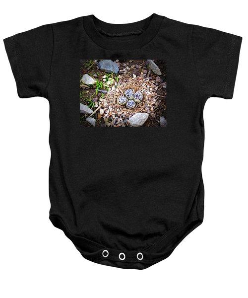 Killdeer Nest Baby Onesie by Cricket Hackmann