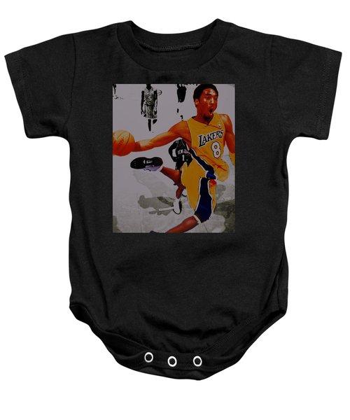 Kobe Bryant Taking Flight 3a Baby Onesie by Brian Reaves