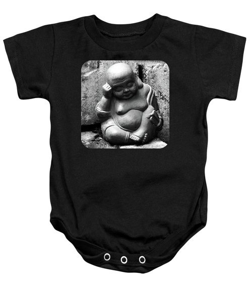 Laughing Buddha Naps Baby Onesie by Ethna Gillespie