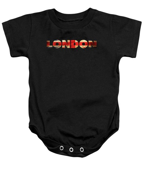 London Vintage British Flag Tee Baby Onesie by Edward Fielding