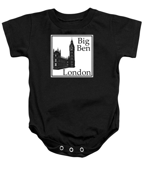 London's Big Ben In White Baby Onesie by Custom Home Fashions