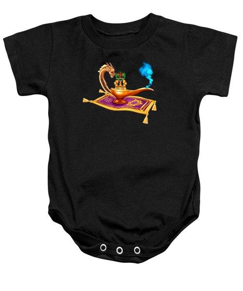 Magical Dragon Lamp Baby Onesie by Glenn Holbrook