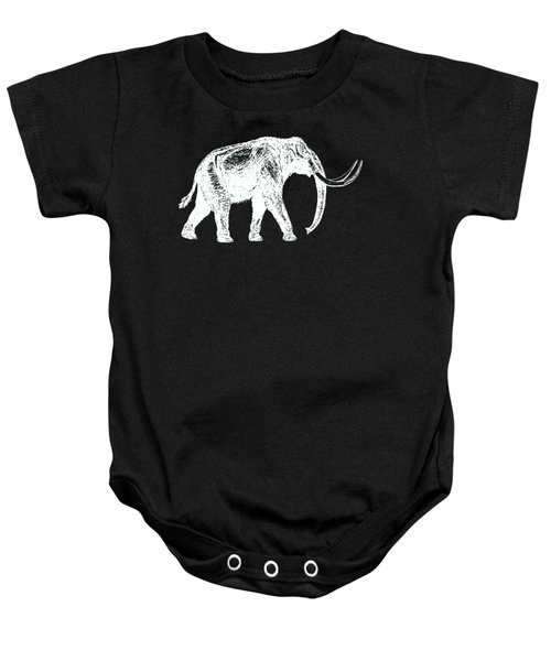 Mammoth White Ink Tee Baby Onesie by Edward Fielding