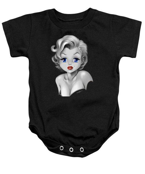 Marilyn Manroe Baby Onesie by Frank Bonnici