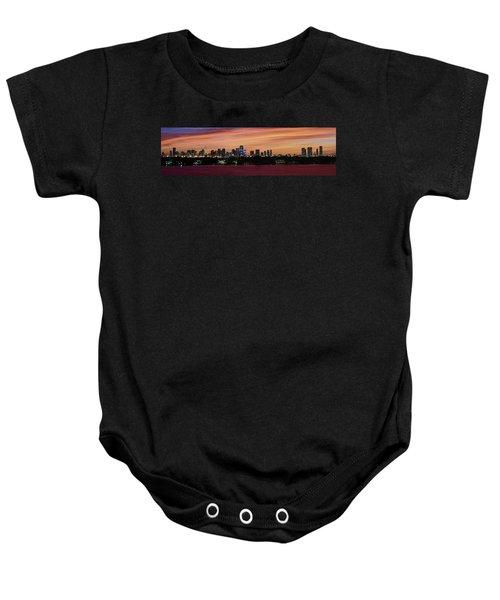 Miami Sunset Panorama Baby Onesie by Gary Dean Mercer Clark
