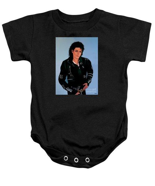 Michael Jackson Bad Baby Onesie by Paul Meijering