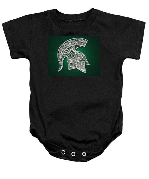 Michigan State Spartans Football Baby Onesie by Fairchild Art Studio