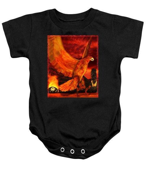 Myth Series 3 Phoenix Fire Baby Onesie by Sharon and Renee Lozen