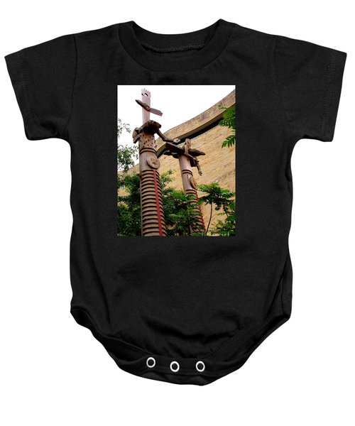 National Museum Of The American Indian 3 Baby Onesie by Randall Weidner