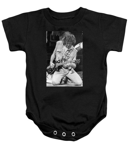 Neil Young Baby Onesie by David Plastik