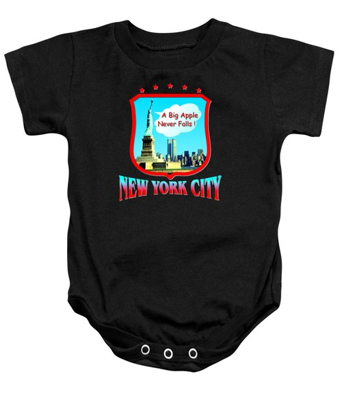 New York City Big Apple - Tshirt Design Baby Onesie by Art America Online Gallery