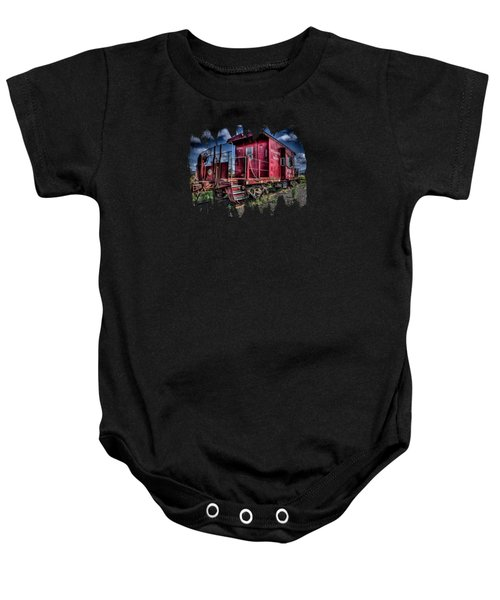 Old Red Caboose Baby Onesie by Thom Zehrfeld