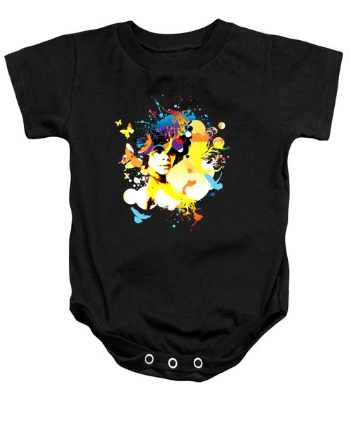 Onxy Doves - Bespattered Baby Onesie by Chris Andruskiewicz